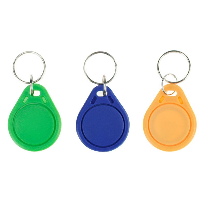 10 قطعة تتفاعل Keytags ميفار 13.56MHz 14443A M1 S50 الصغيرة الذكية IC مفتاح علامة حلقية Keyfob رمز Nfc التحكم في الوصول Keycard