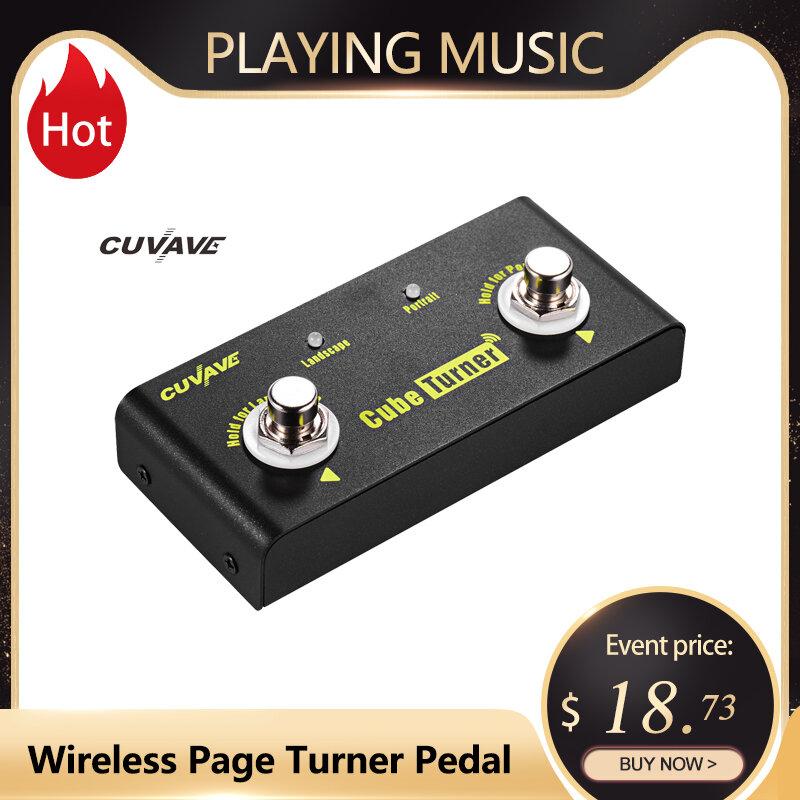 CUVAVE Cube Turner ไร้สาย Page Turner รองรับ Looper การเชื่อมต่อ iPad iPhone Android แท็บเล็ตสมาร์ทโฟน