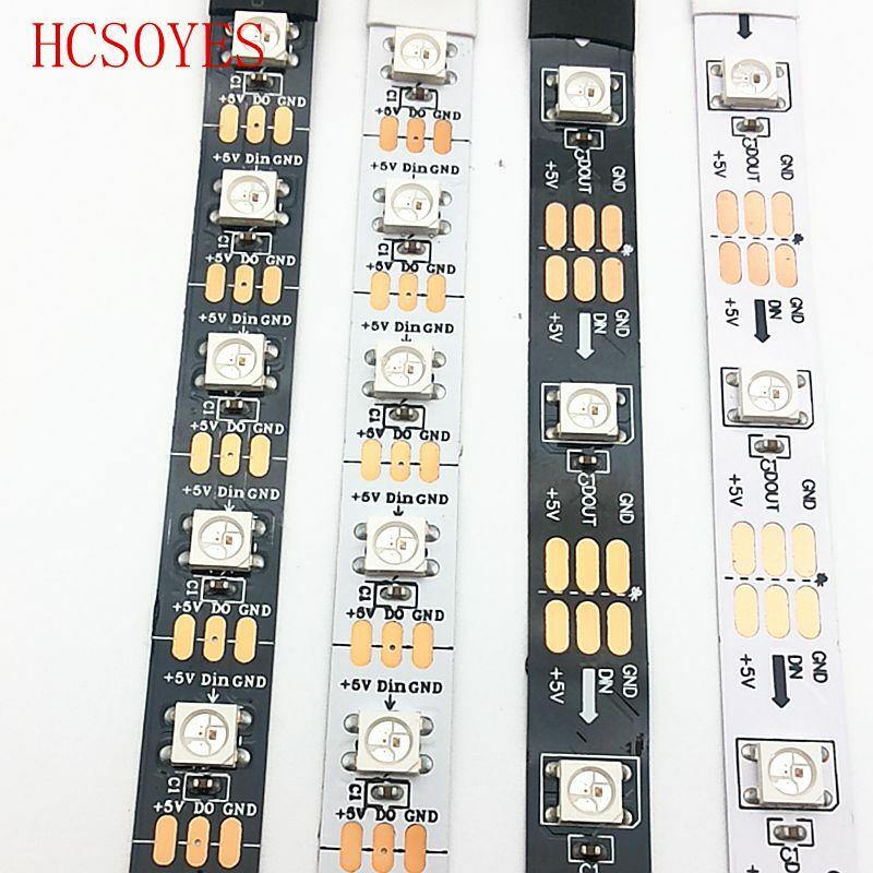 DC 5V WS2812B streifen 30/60leds/m 2811ic Gebaut-in einzeln adressierbaren smart RGB led streifen P30/IP65/IP67 5m/roll