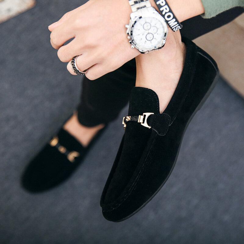 Chaussures De concepteur Hommes Zapatos De Hombre Slip-On Chaussures En Cuir Décontracté Chaussures Hommes Adulte Rouge Conduite Mocassin Doux Mocassins anti-dérapant