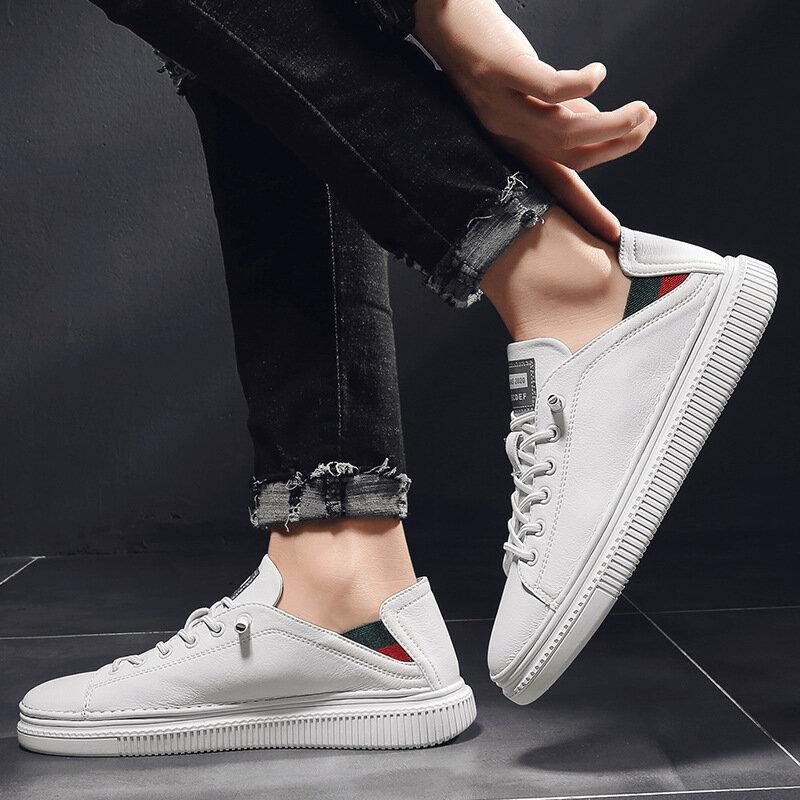 Printemps Nouveau Chaussures De Loisir Blanches Homme blanc Respirant Chaussures de Sport Pour Hommes chaussures Tendance Sauvage chaussures Décontractées pour Hommes Chaussures Pour Hommes