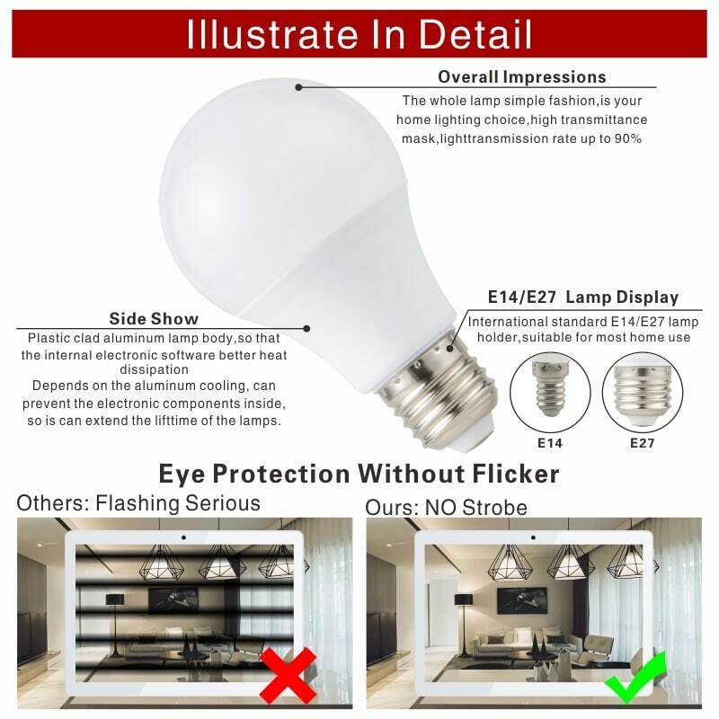 2 개/몫 LED 전구 E27 E14 20W 18W 15W 12W 9W 6W 3W Lampada LED 빛 AC 220V Bombilla 스포트 라이트 조명 콜드/따뜻한 화이트 램프