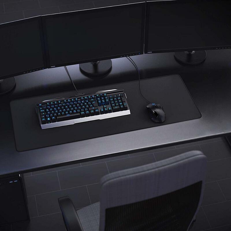 لوحة ماوس كبيرة للألعاب ، أسود نقي ، ملون ، للوحة المفاتيح ، المكتب ، الكمبيوتر المحمول ، الألعاب