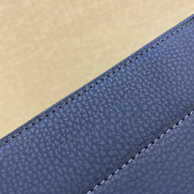 남성용 고품질 정품 가죽 단색 모바일 지갑 동전 지갑 20cm