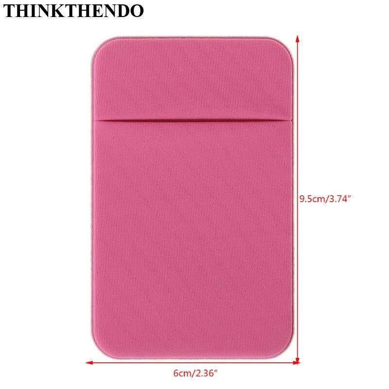 휴대 전화 신용 카드 지갑 홀더 포켓 스틱-에 접착 탄성 도구