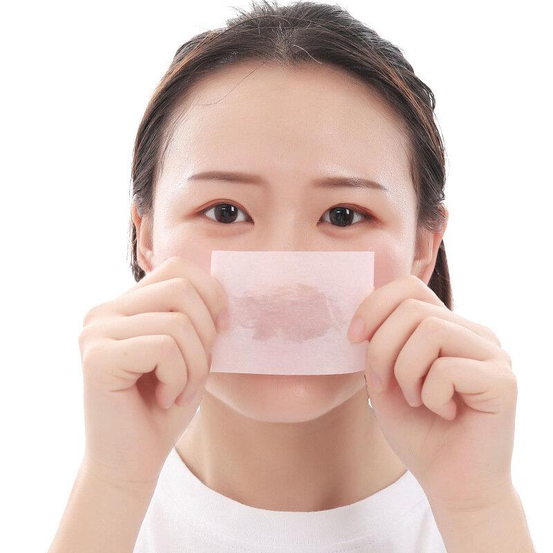 100 stücke Tragbare Gesicht Oil Control Gesichts Saugfähigen Papier Blotting Blätter Öl Control Film Gesichts Schönheit Werkzeuge Gesichts Sauberen Papier