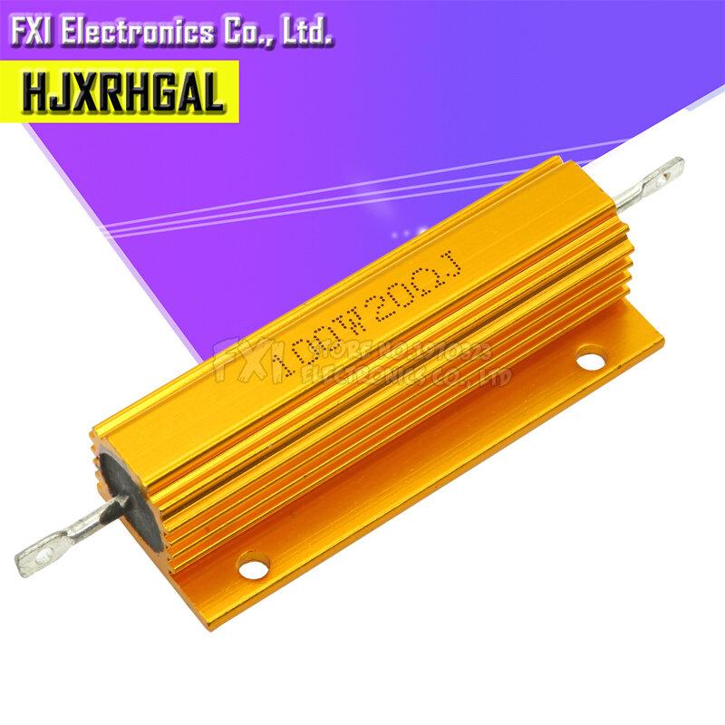 50W 100W 알루미늄 전원 금속 쉘 케이스 권선 저항 0.01 ~ 100K 0.05 0.1 0.5 1 2 6 8 10 20 200 500 1K 10K 옴 저항