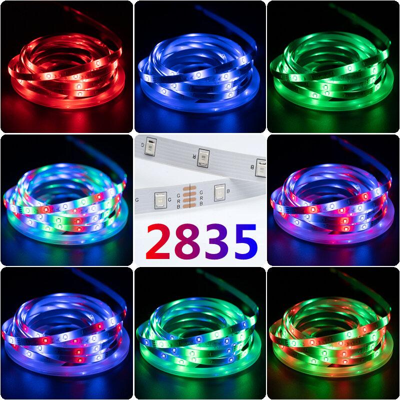 LED 스트립 조명 RGB 2835 블루투스 USB IR 원격 유연한 램프 테이프 다이오드 DC5V TV 백라이트 야간 조명 1M 2M 3M 4M 5M