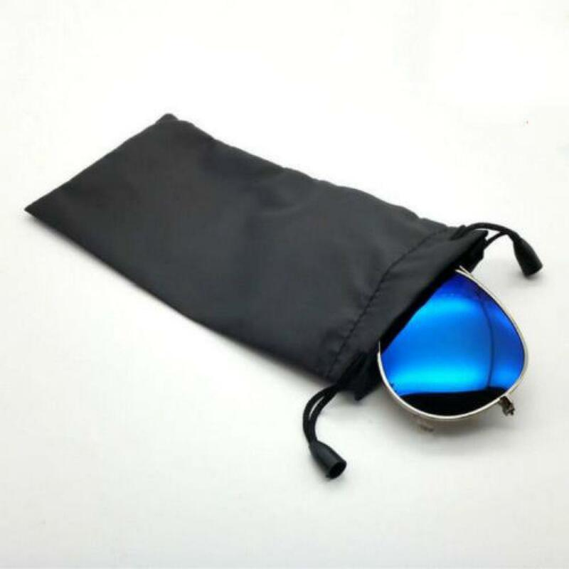 5pcs Sunglasses Bags Optical Carry Mp3 Portable Drawstring Soft Cloth Eyeglasses New Glasses Anti Dust Cleaning Package Black