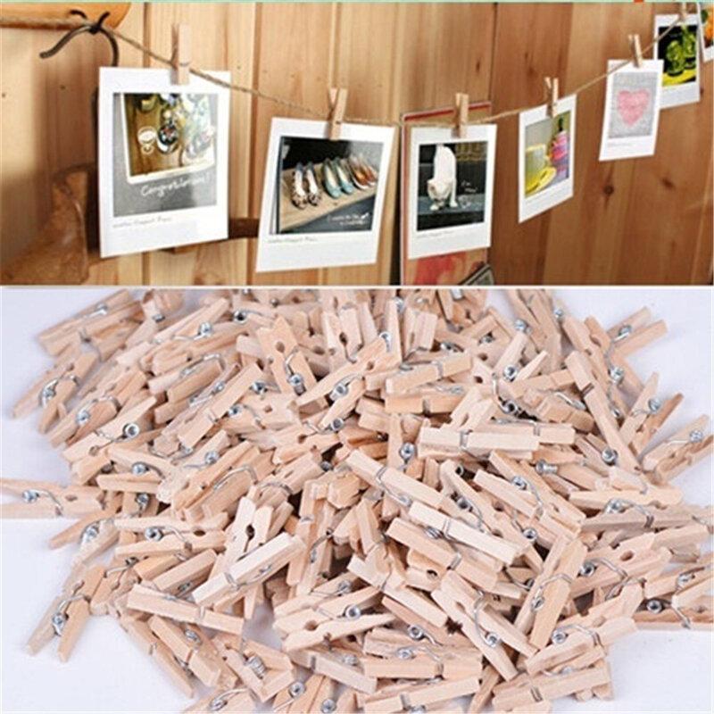 25 kleine Natürliche holz clips mit einer länge von 3,5 cm, verwendet für büro liefert, fotos, memos, kleidung, postkarten.