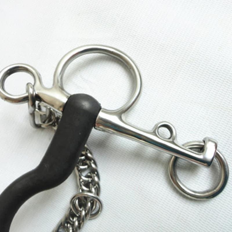 منتج الحصان طويل بلهام بت الفولاذ المقاوم للصدأ ملفوفة المطاط الأسود 5 1/4 بوصة