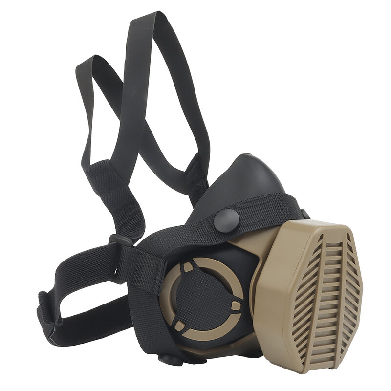 Maschera antigas tattica speciale mezza maschera antigas per Paintball militare Airsoft Hunting CS gioco Cosplay