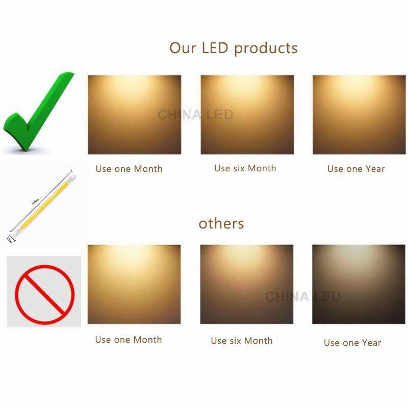 LED R7S COB 유리 튜브 전구 78MM 20w 25W 118MM 50W R7S 옥수수 램프 J78 J118 할로겐 빛 100W 150W AC 220V 110V Lampadas 교체
