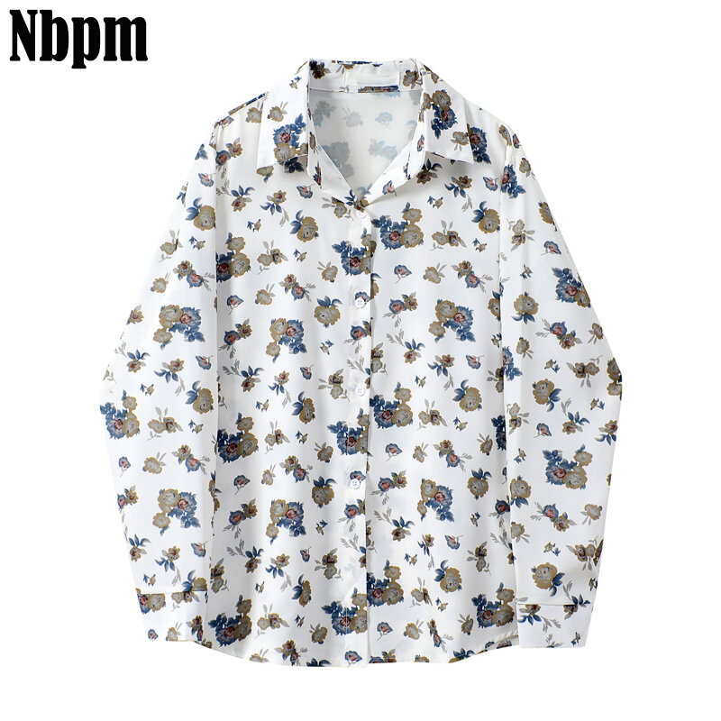 Button Retro Floral Printed Casual Women Blouse Ladies Long Sleeve Women's Shirt Office Work Fashion 2021 Spring Tops Female Top