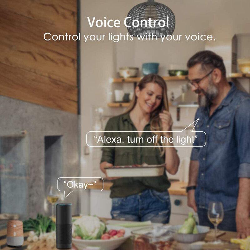 20w IR 원격/Wifi 제어 스마트 App LED 전구 E27 알렉사와 호환 google 홈 전구 음성 제어 디 밍이 가능한 LED 램프