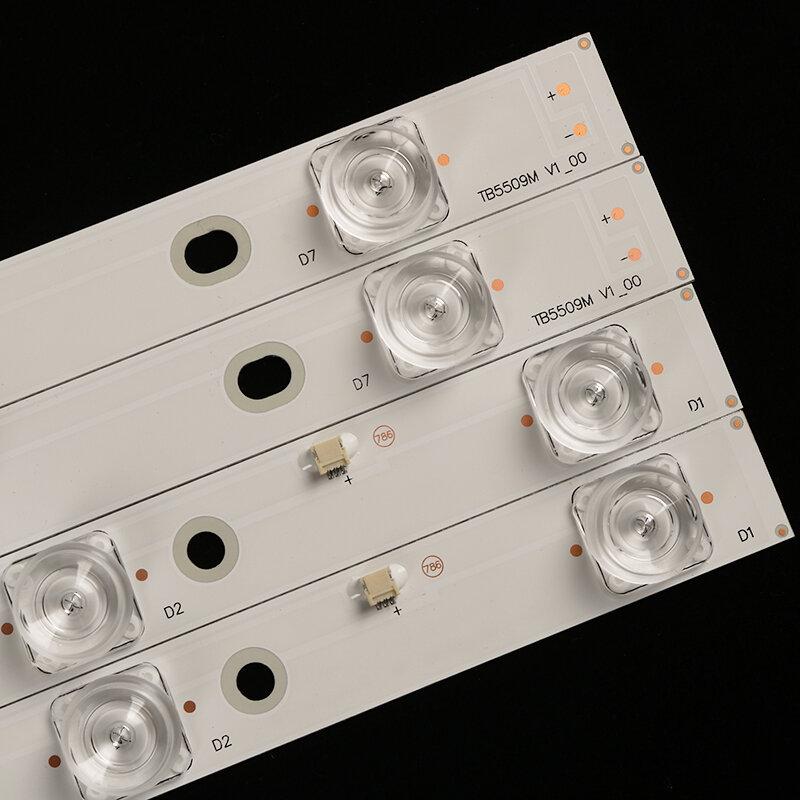 Nuevo Kit, 16 Uds., Tira de LED para iluminación trasera para Panasonic TV, TX-55AX630B, TB5509M, 550TV01, 550TV02, 7LED, TX-55AX630E