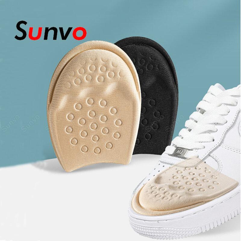 Plantillas medias para zapatos, insertos para el antepié, cojín de suela antideslizante para reducir el tamaño del zapato, relleno de tacones altos, almohadillas para aliviar el dolor