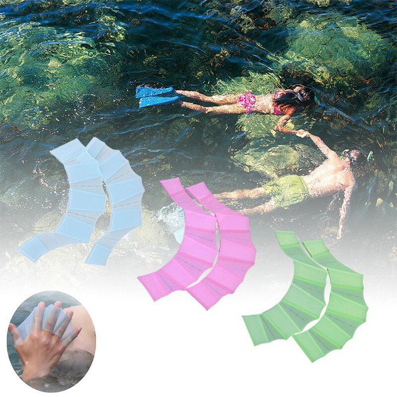 ว่ายน้ำว่ายน้ำมือ Webbed Flippers การฝึกอบรมถุงมือปาล์มดำน้ำตื้นและดำน้ำดูปะการัง Entertainmen