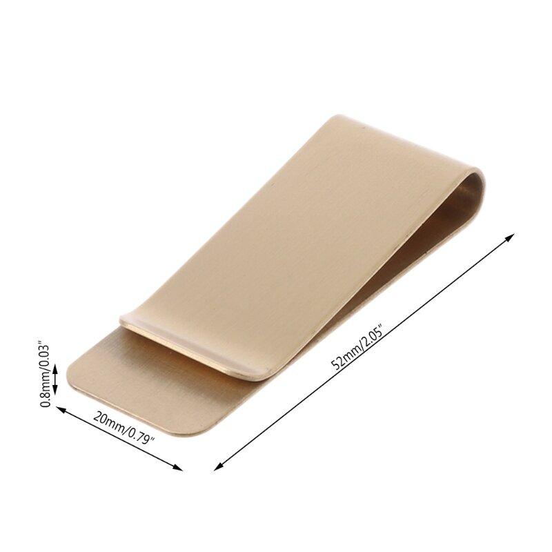 슬림 포켓 황동 금속 클립 남자 지갑 신용 카드 현금 클램프 머니 클립 지갑 J60D