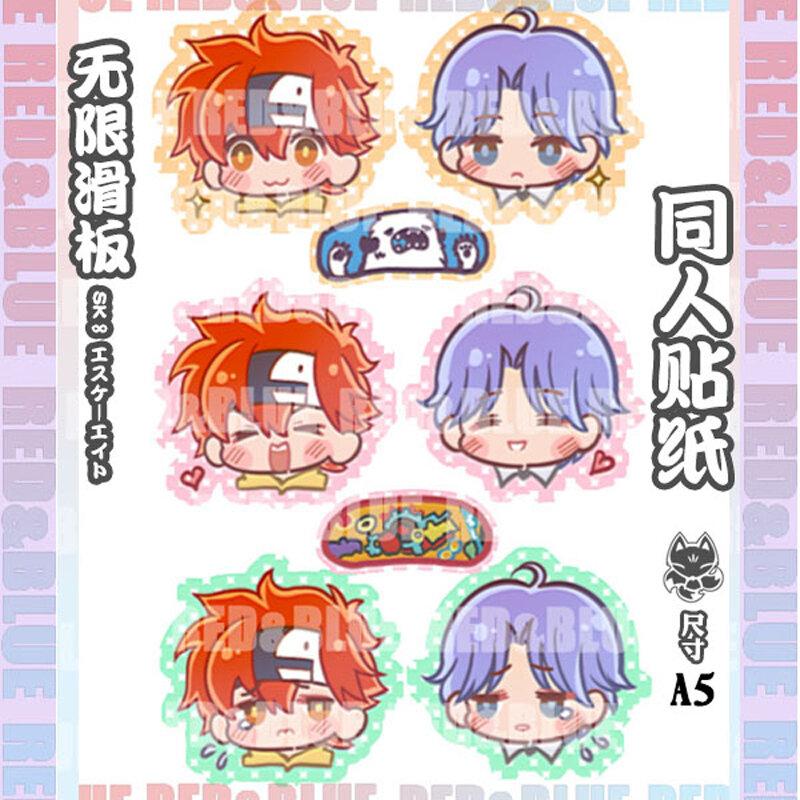 Anime Tattoo Sk8 The Infinity Kyan Reki Hasegawa Langa Cosplay Prop Sticker A5 Costumes Accessories