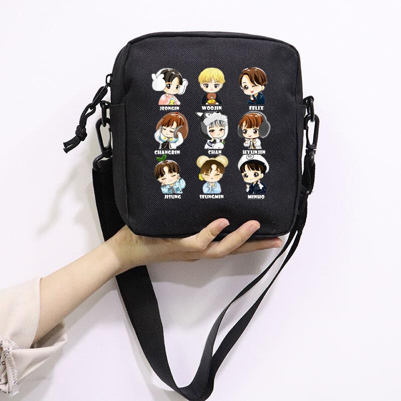Kpop bezpańskie dzieci Chibi śliczna torba Mini płócienne torby na ramię Casual Street Zipper torebki torebka Crossbodys