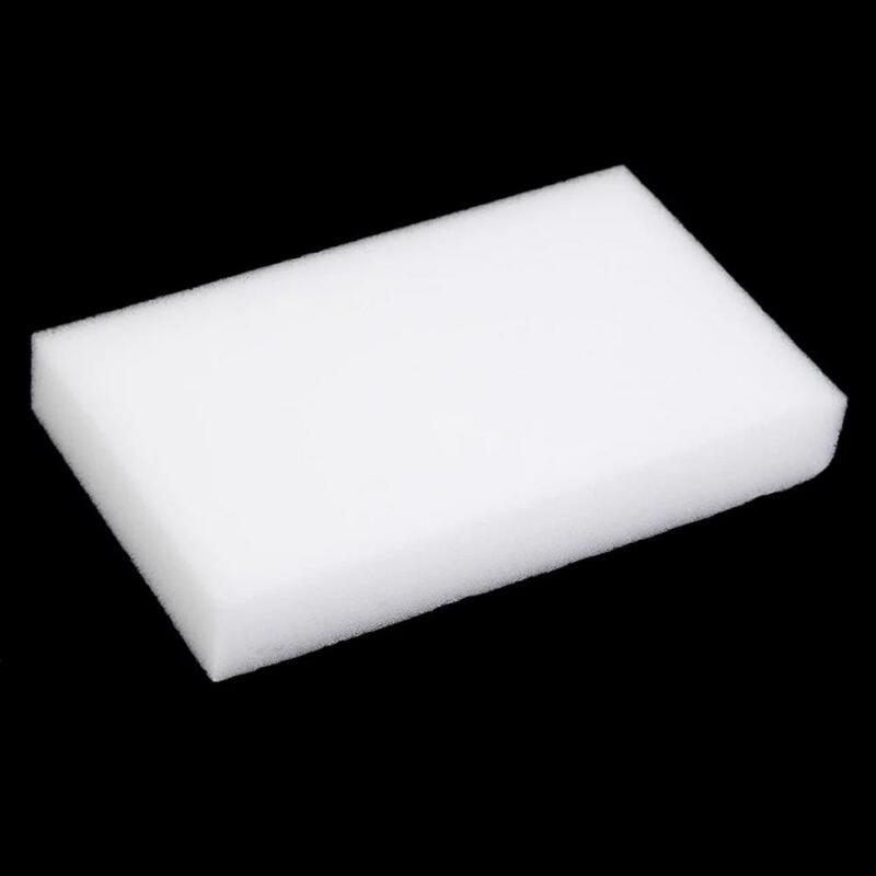 100 pz 100x60x10mm spugna melamina spugna magica gomma ad alta densità detergente per la casa spugne per la pulizia della cucina del piatto