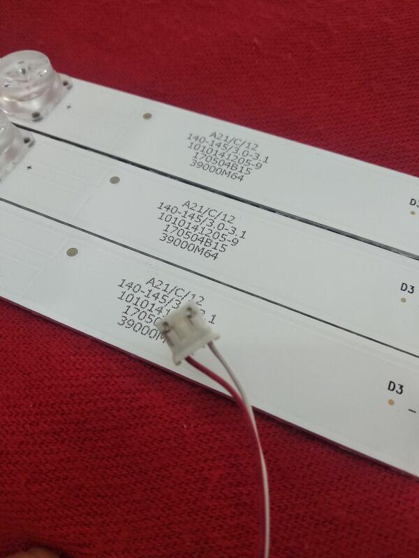 1 세트 = 3PCS LED 백라이트 스트립 7 램프 LED39D07-ZC15AG-02 30339007031 LED40F2000C LED40M2000A LED39S1 LED39M260A