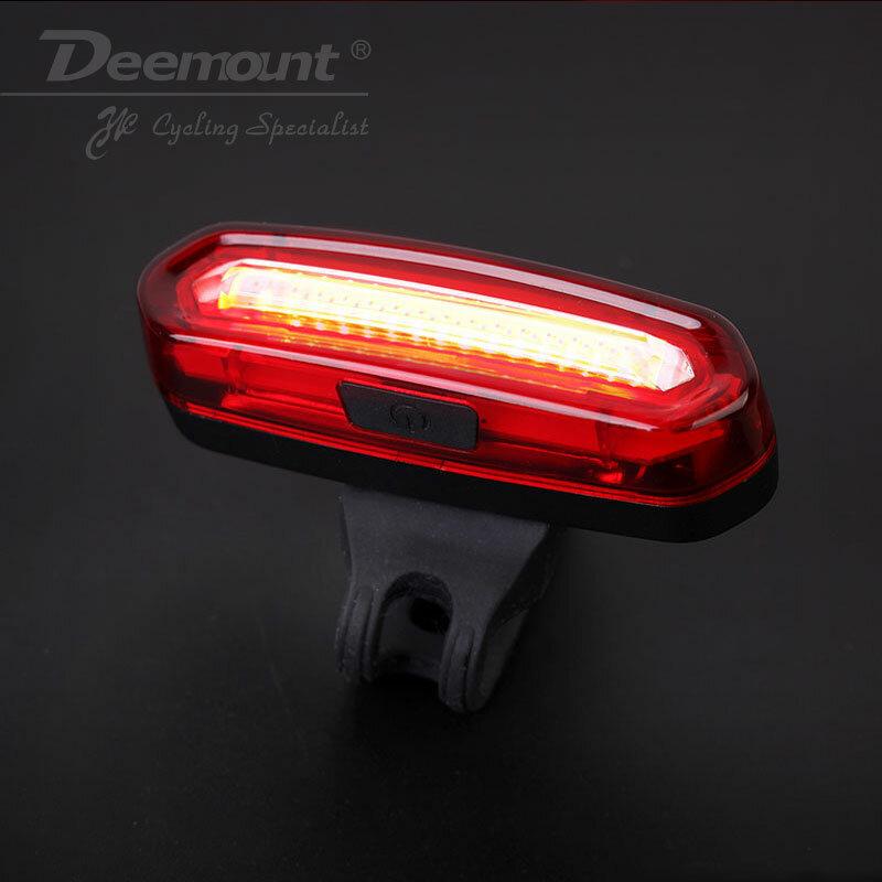 Deemount-مصباح خلفي LED قابل لإعادة الشحن للدراجة ، مصباح خلفي للدراجة الجبلية ، 100 لومن ، COB ، USB