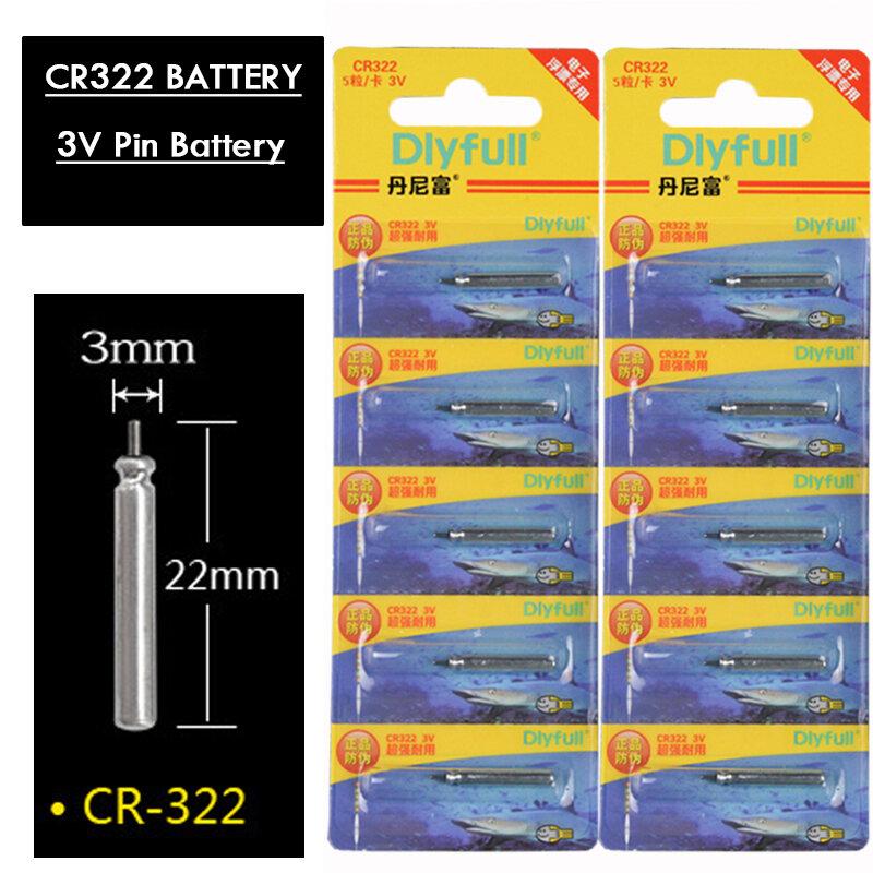 10 ชิ้น/ล็อตCR322 แบตเตอรี่ตกปลาลอยไฟฟ้าลอย 3V Night Lightแบตเตอรี่ลิเธียมPinเซลล์Floatอุปกรณ์เสริมเครื่องม...