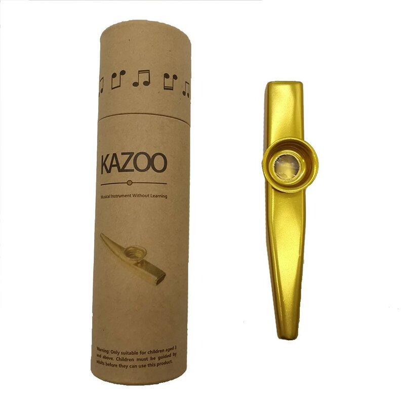 โลหะ Kazoo น้ำหนักเบาแบบพกพาสำหรับเริ่มต้นขลุ่ยเครื่องดนตรีคนรักดนตรี Woodwind สหายที่ดีสำหรับอุป...