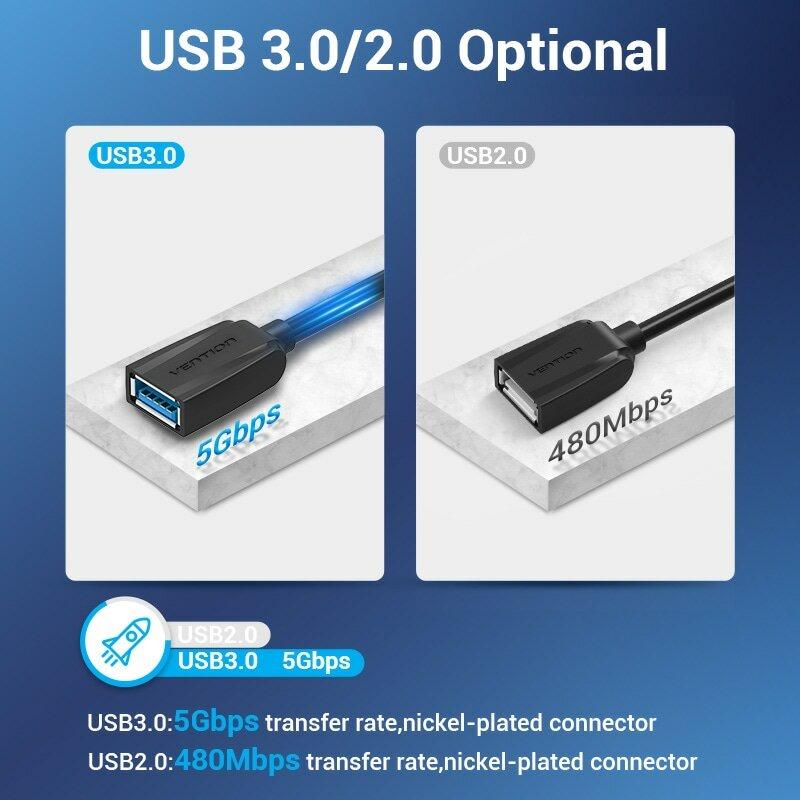 Cavo USB Vention cavo di prolunga USB 3.0 da maschio a femmina 3.0 2.0 cavo di prolunga USB per PS4 Xbox Smart TV cavo di prolunga USB per PC