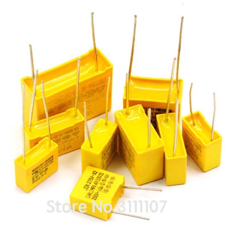 10 unids/lote X2 seguridad condensador 275VAC 0,1 uf 0.001uf 0,0022 uf 0,0047 uf 0,01 uf 0.033uf 0.022uf 0.047uf 0.068uf 0,1 uf 0,15 uf 1uf