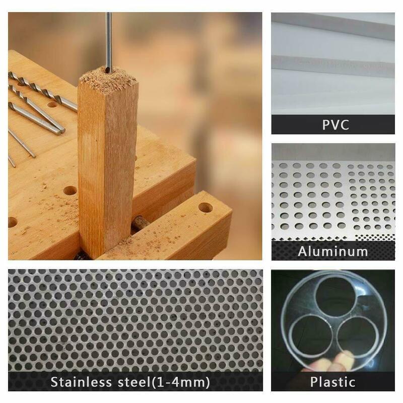 5Pcs 160mm 2/1/3/3/4/5mm 고속 강철 여분의 긴 드릴 비트 세트 금속 멀티 도구 전동 공구 액세서리