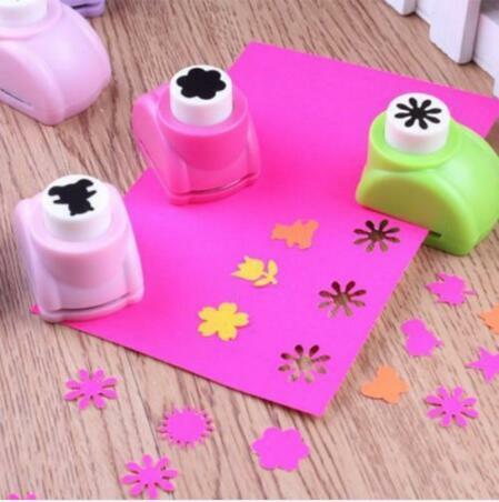 Mini Scrapbook punzoni taglierina fatta a mano carta Craft Calico stampa fiore carta Craft Punch Hole Puncher forma strumento fai da te
