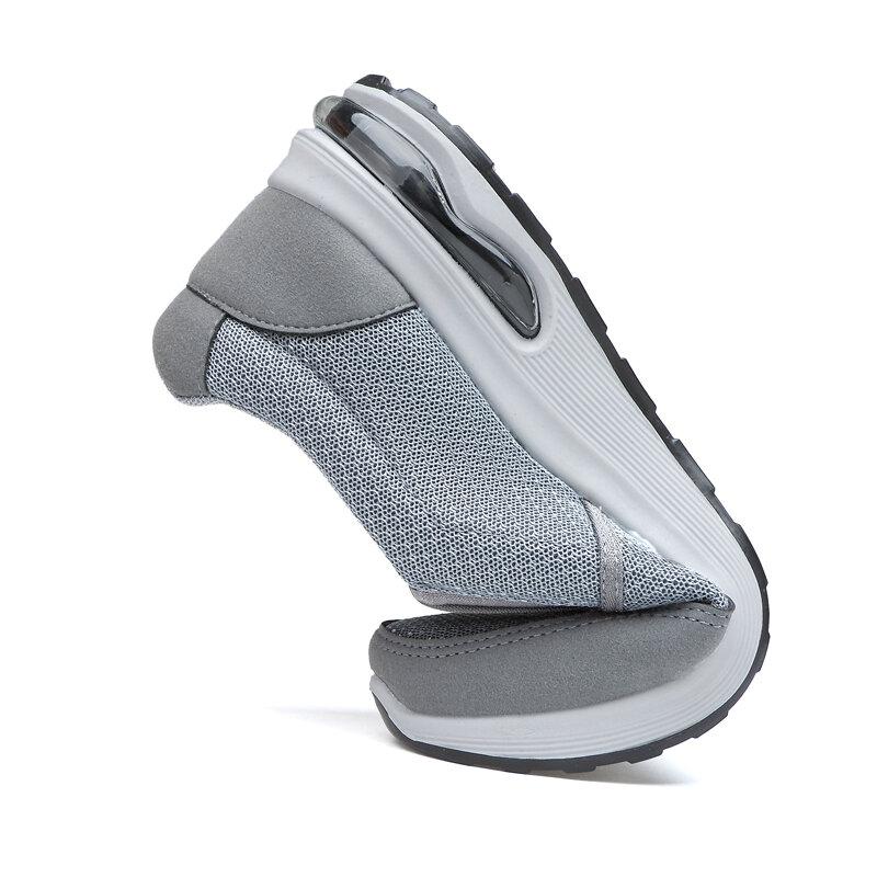 zapatillas hombre Primavera Verano medio-Edad y vieja zapatos de tela de Beijing ocio transpirable antideslizante Fondo suave papá zapatos deportivos