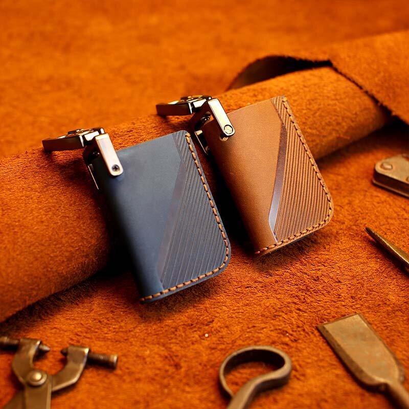Lynk & Co 05 키 케이스에 대 한 수 제 가죽 자동차 키 체인 커버 새로운 가죽 자동차 키 케이스