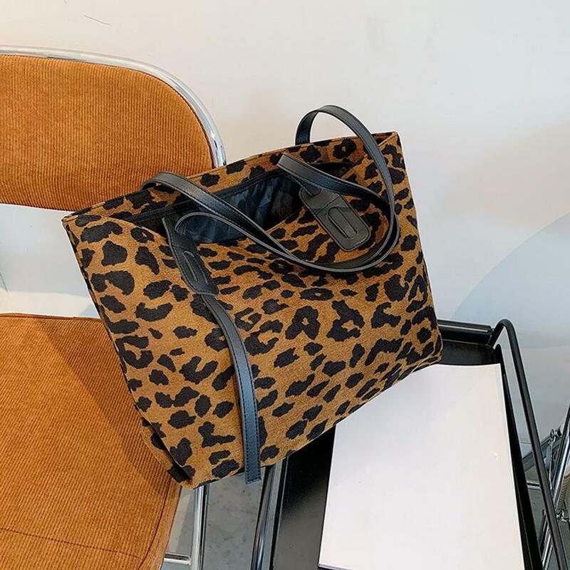 여성 레트로 레오파드 얼룩말 동물 인쇄 어깨 가방 휴대용 대용량 PU 가죽 토트 캐주얼 거리 쇼핑 핸드백