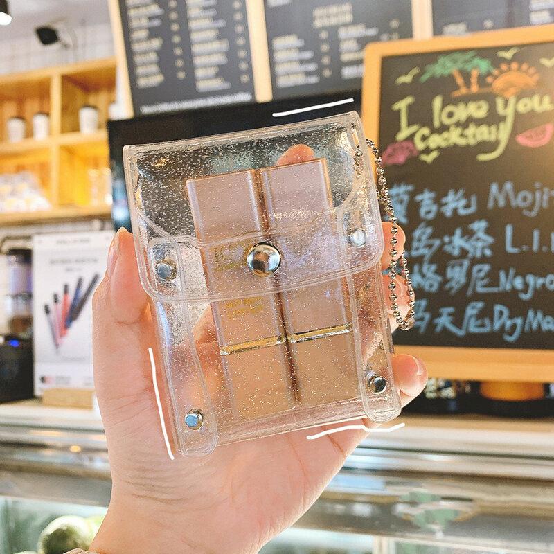 2021 새로운 투명 동전 지갑 PVC 방수 휴대용 스토리지 가방 립스틱 스토리지 가방 Ins 미니 지갑 여자 카드 케이스 홀더
