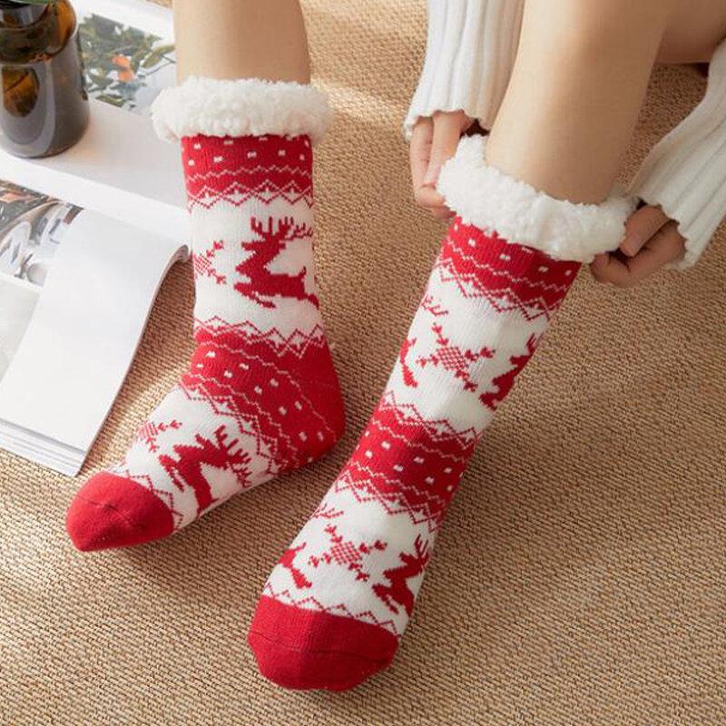 c/álidos y suaves calcetines gruesos para dormir en casa ocasional Calcetines esponjosos de invierno para mujeres y ni/ñas