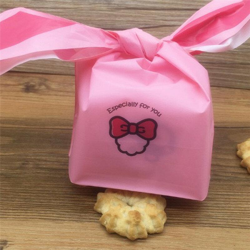 Imixlot 50 Pcs/Lot mignon oreilles de lapin Cookie Biscuit sac de mariage anniversaire Festival fête cadeau sacs bonbons sac fournitures de fête
