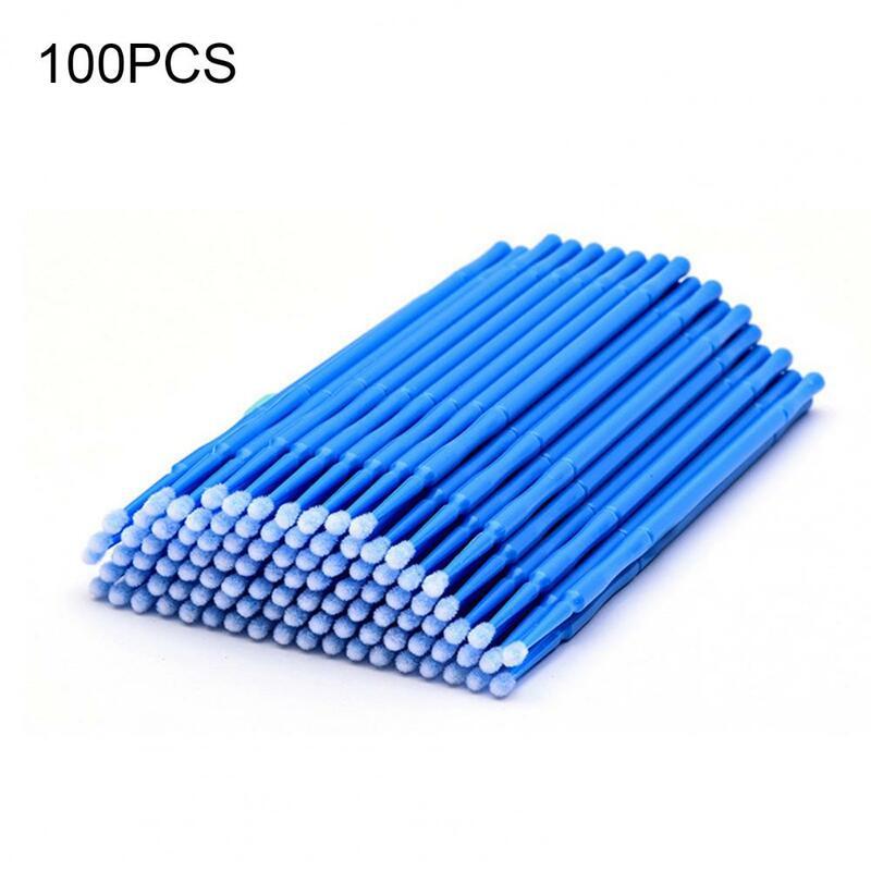 100 개/가방 속눈썹 브러쉬 일회용 마이크로 속눈썹 연장 개별 속눈썹 제거 면봉 마이크로 브러쉬 속눈썹 연장 도구