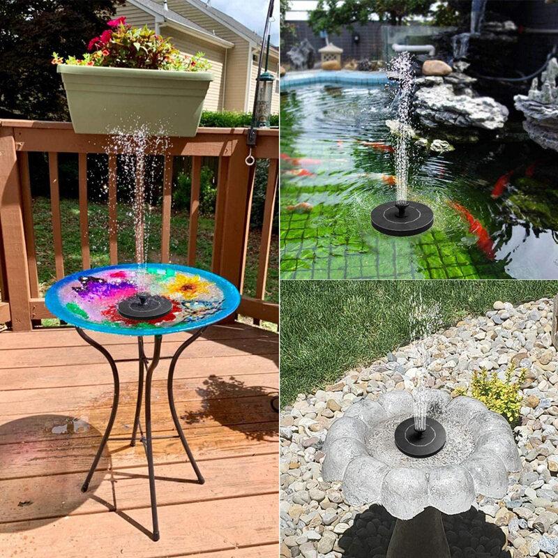 미니 태양 물 분수 풀 연못 폭포 분수 정원 장식 야외 조류 목욕 태양 전원 분수 부동 물
