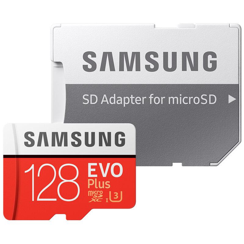 سامسونج EVO + مايكرو SD 32G SDHC 80 برميل/الثانية الدرجة Class10 بطاقة الذاكرة C10 UHS-I TF/SD بطاقات عبر فلاش SDXC 64GB 128GB
