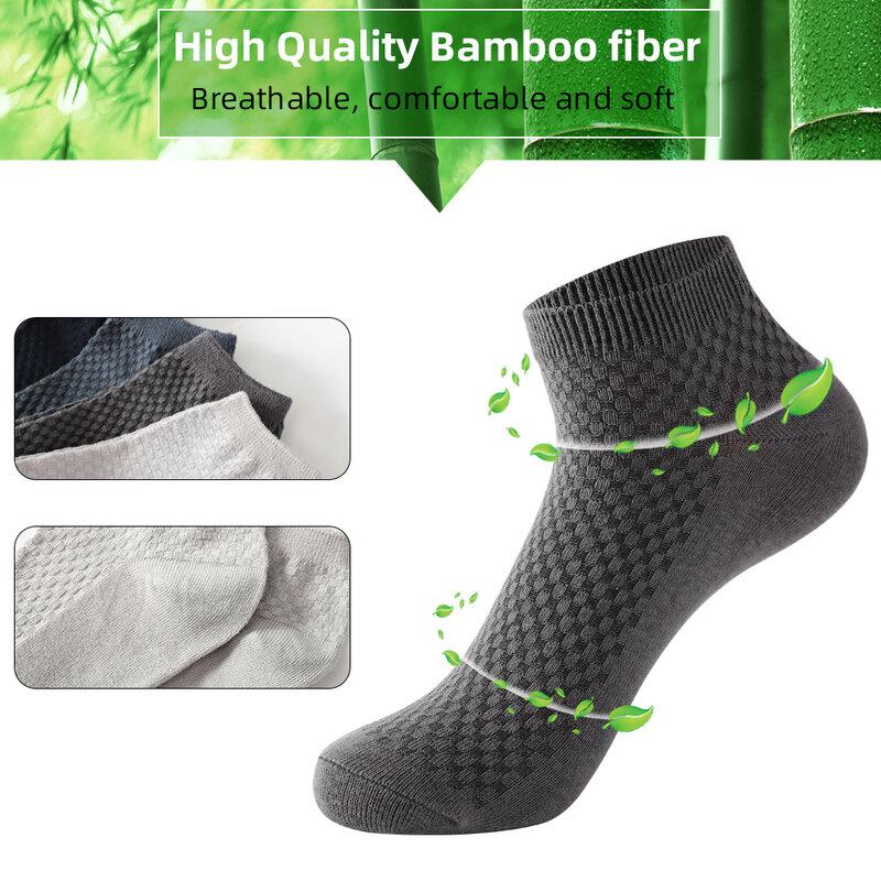 10 Pairs/Batch Men Bamboo Fiber Sock Short Socks High Quality Summer Business  Casual Soft Breathable Male Feet Bare Socks Men