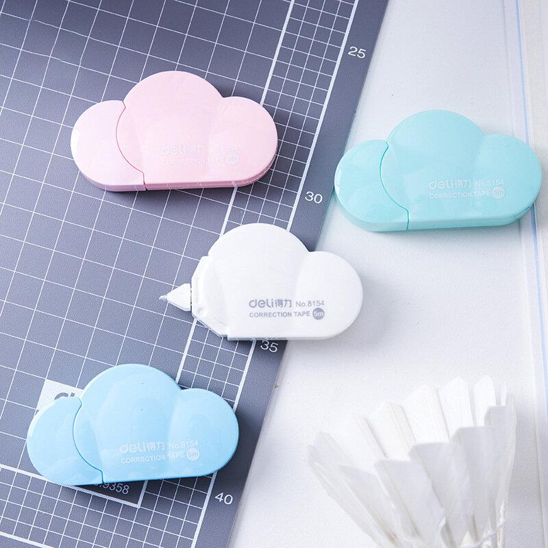 Deli-Mini cinta de corrección de nube Kawaii, 5mm X 5m, papelería coreana, útiles escolares para niños, novedad
