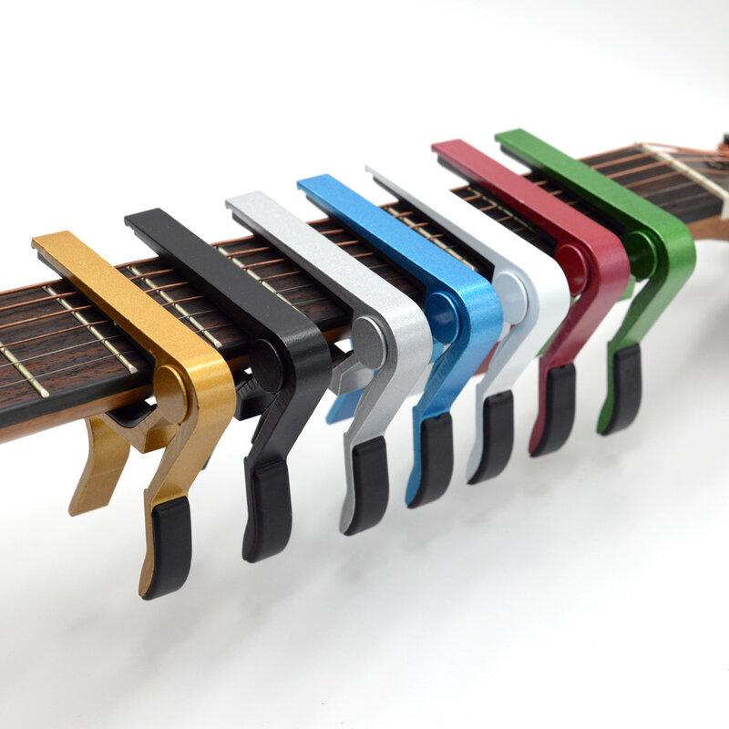 Universal Gitarre Capo Quick Change Clamp Key Aluminium Legierung Metall Capo für Akustische Klassische Elektrische Gitarre Teile Zubehör