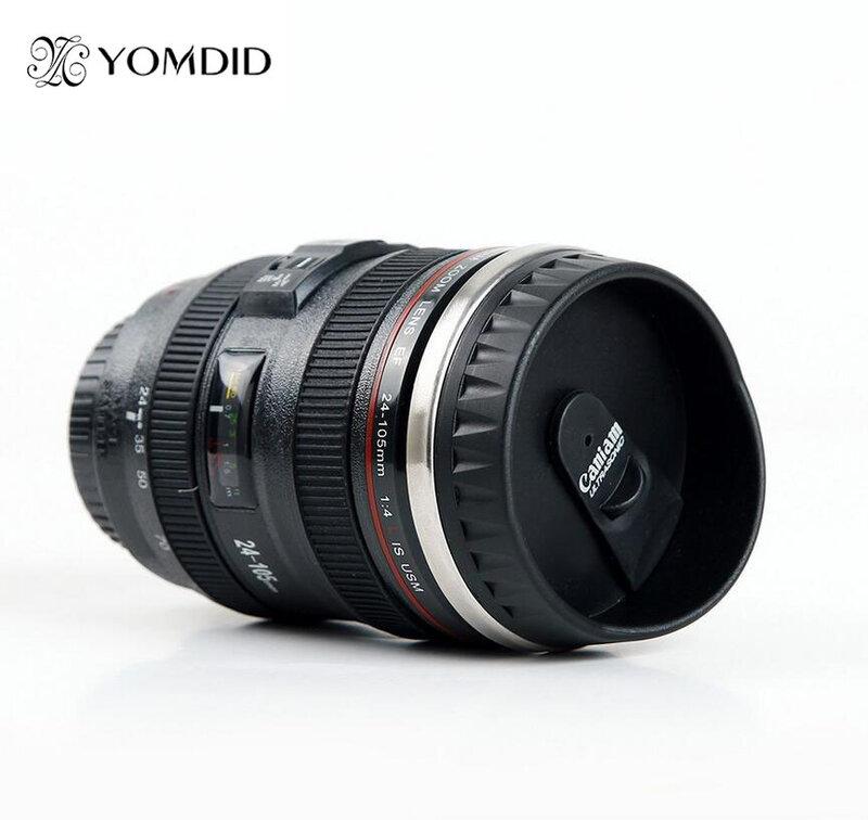 สแตนเลส SLR กล้อง EF24-105mm กาแฟแก้ว1:1 Scale Caniam แก้วกาแฟของขวัญสร้างสรรค์