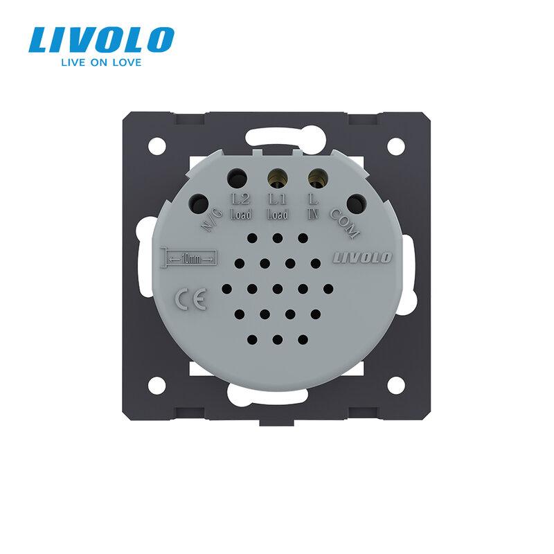 Livolo الاتحاد الأوروبي الموحدة تبديل البعيد دون لوحة زجاج ، AC 220 ~ 250V الجدار ضوء واللمس التبديل ، VL-C701R