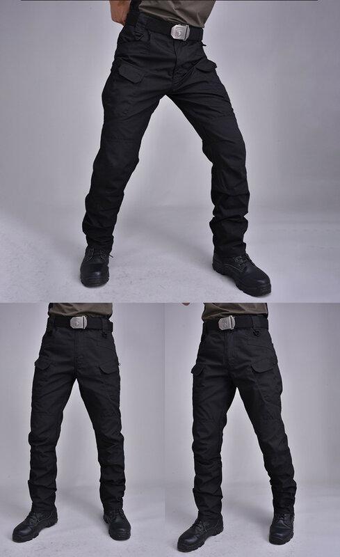 Ix7 Pantalones Tacticos Elasticos De Bolsillo Multiple Para Hombre Pantalon Tactico Militar Resistente Al Agua Y Al Desgaste Para Exteriores Camping Y Senderismo