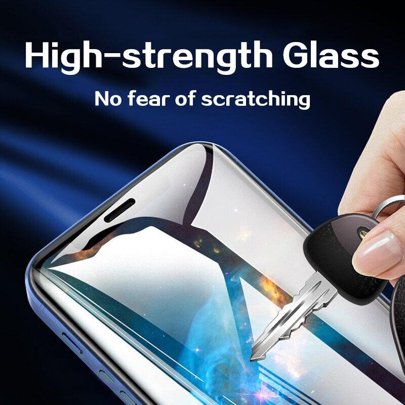 4 sztuk pełna pokrywa szkło ochronne dla iPhone 13 12 11 Pro Max Screen Protector dla iPhone 6 7 8 Plus X XR Xs Max 13 Mini szkło